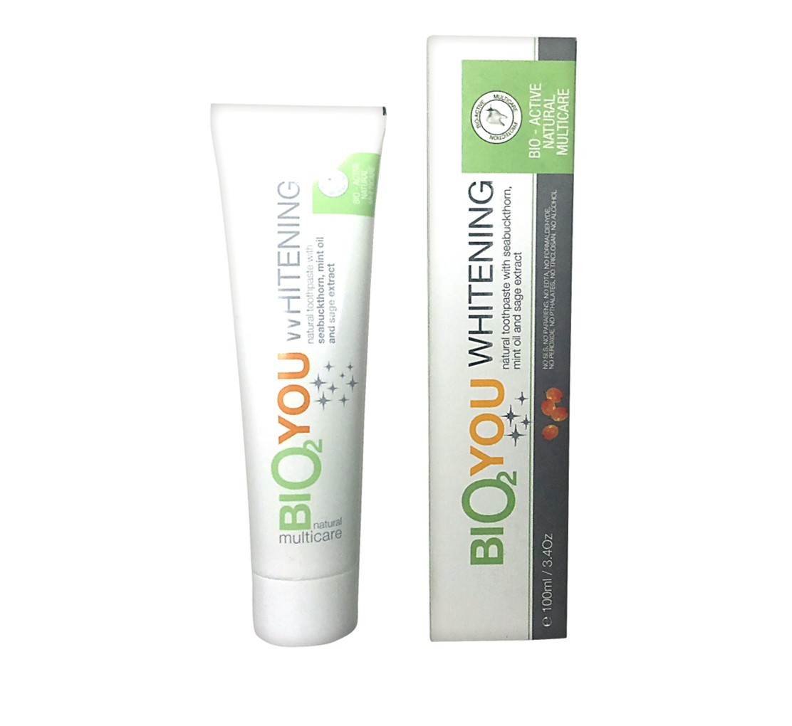 Bio2You Natural Whitening Toothpaste with Mint Oil and Sage Extract