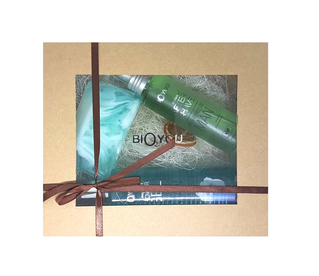 Bio2You Body & Skin Care Gift Set for Men, Seabreeze